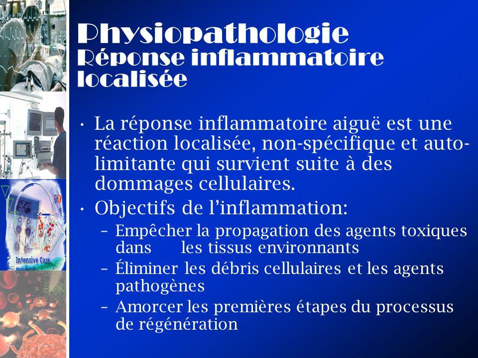 Physiopathologie Réponse inflammatoire localisée