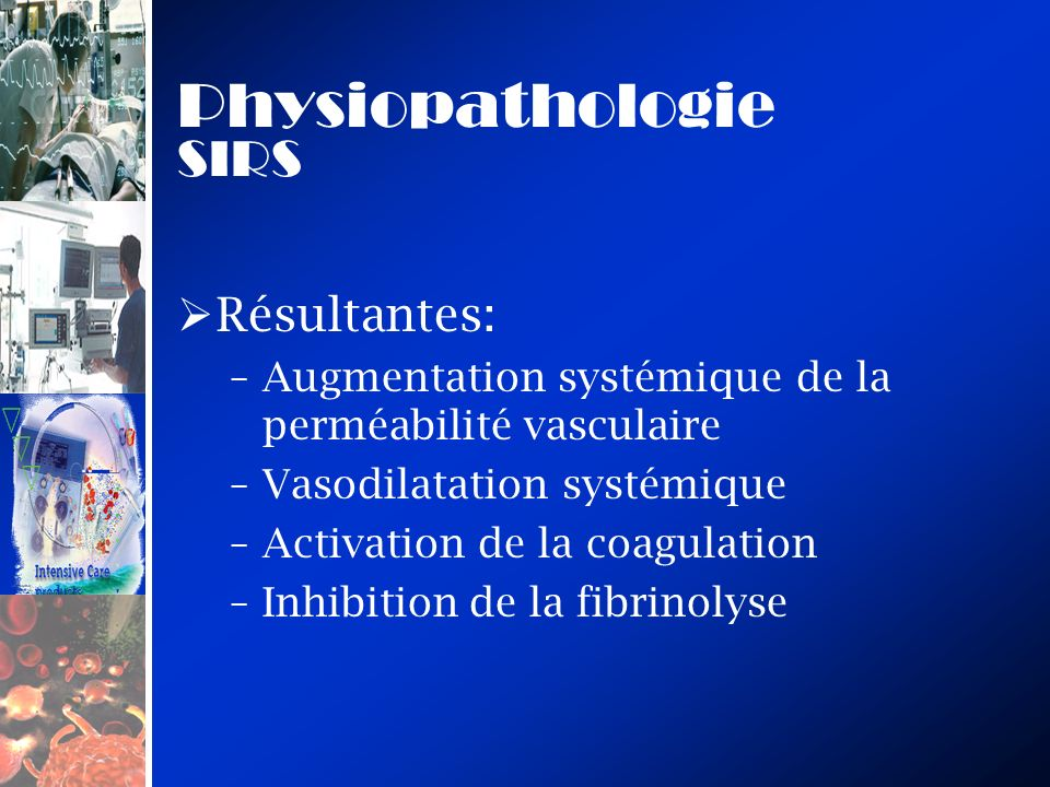 Physiopathologie SIRS