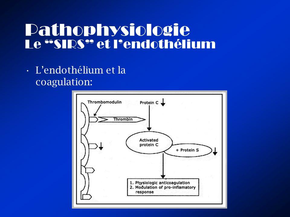 Pathophysiologie Le SIRS et l'endothélium