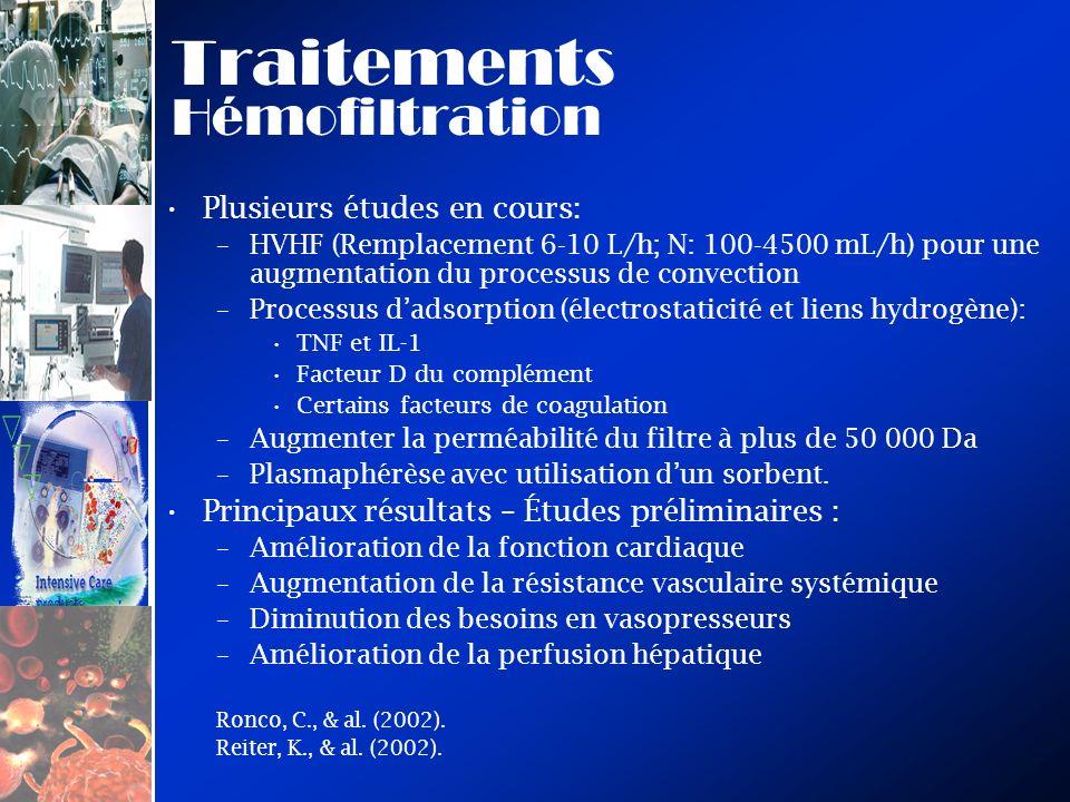 Traitements Hémofiltration