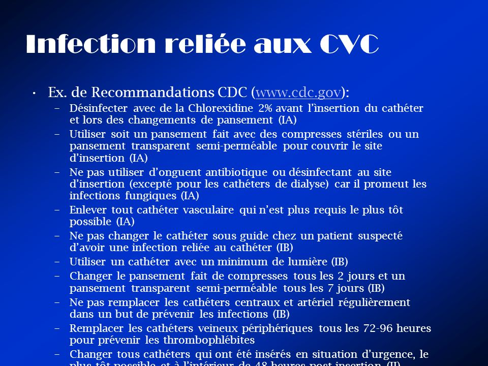 Infection reliée aux CVC