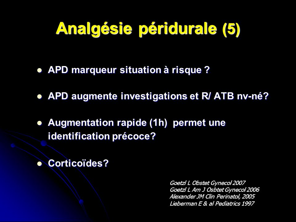 Analgésie péridurale (5)