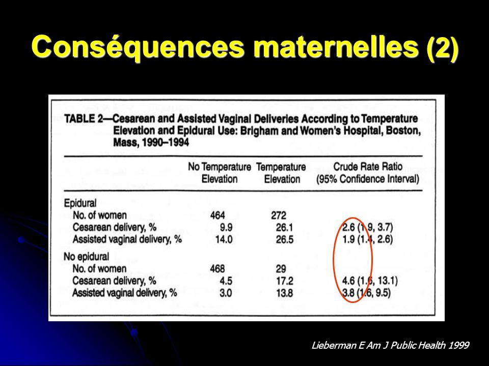 Conséquences maternelles (2)