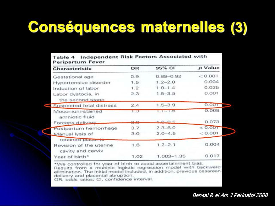 Conséquences maternelles (3)