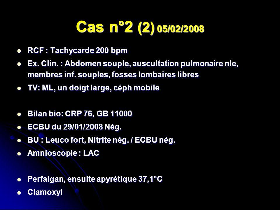 Cas n°2 (2) 05/02/2008 RCF : Tachycarde 200 bpm