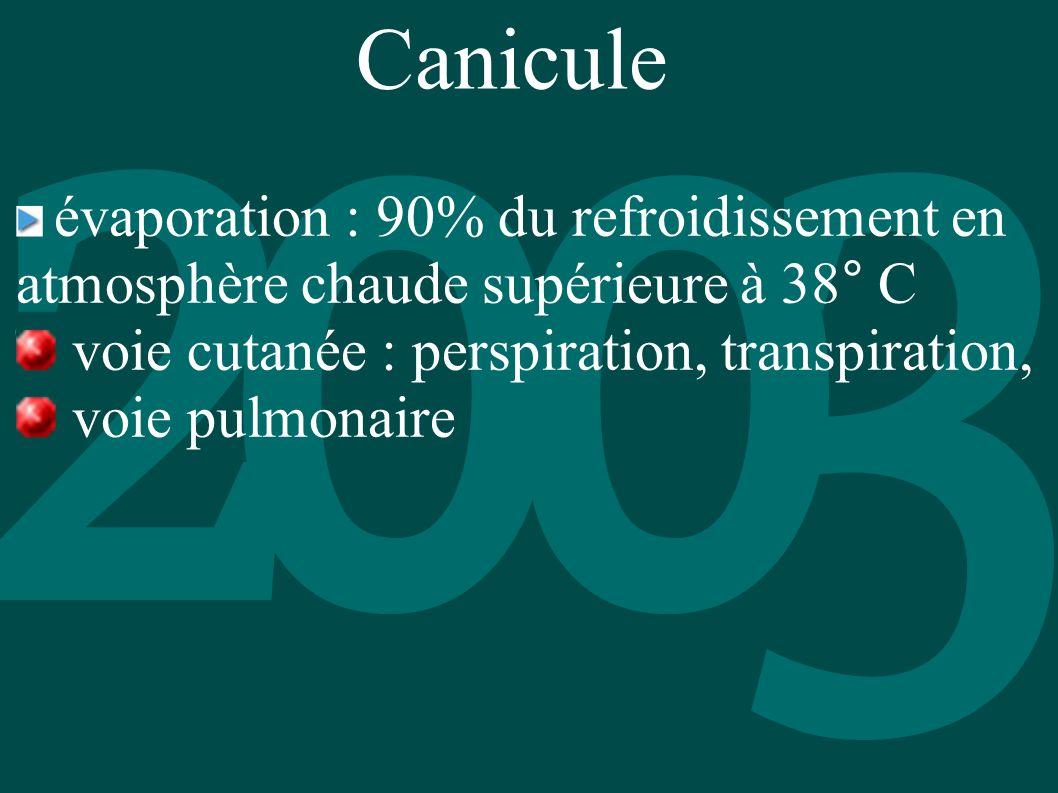 Canicule voie cutanée : perspiration, transpiration, voie pulmonaire