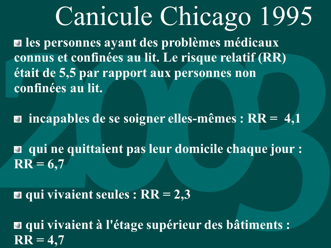 Canicule Chicago 1995