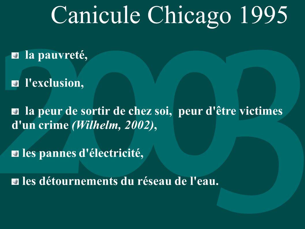 Canicule Chicago 1995 la pauvreté, l exclusion,