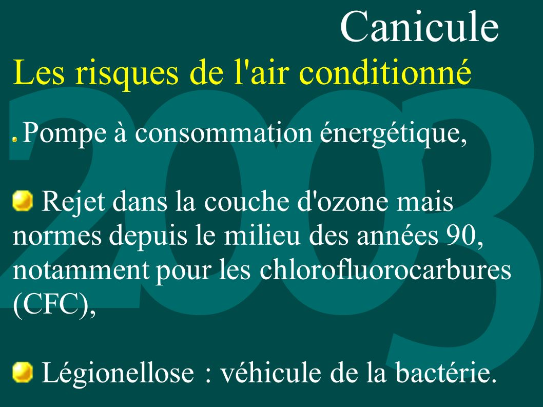 Canicule Les risques de l air conditionné