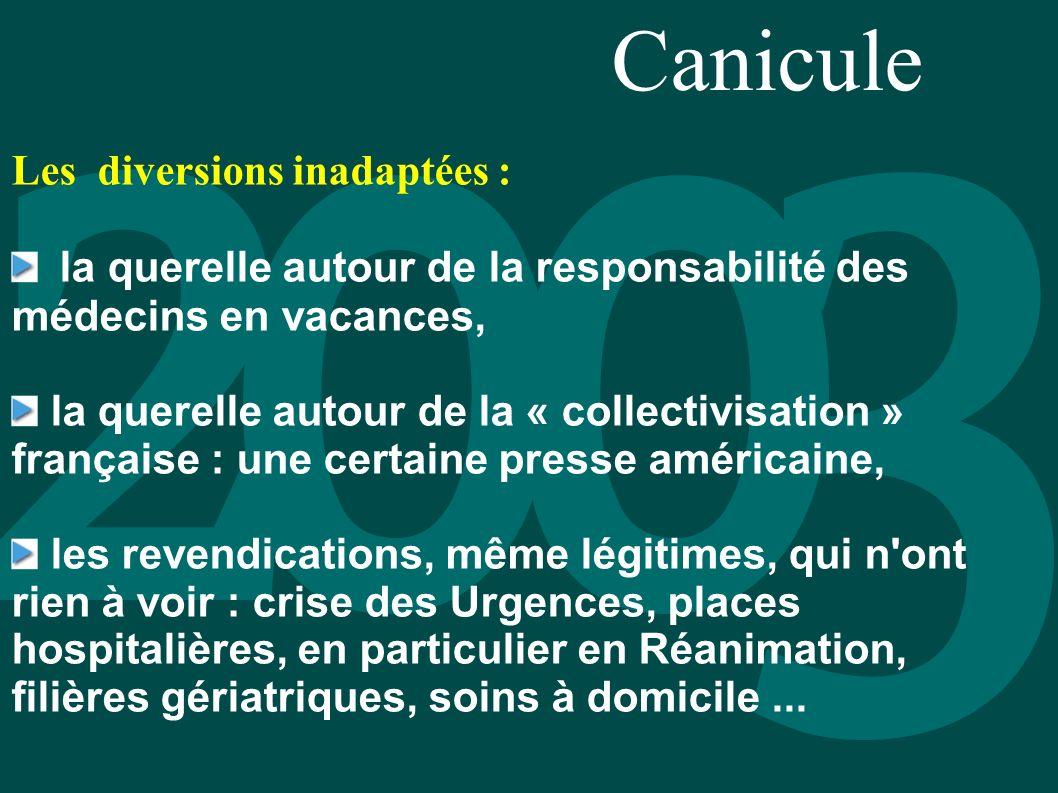 Canicule Les diversions inadaptées :