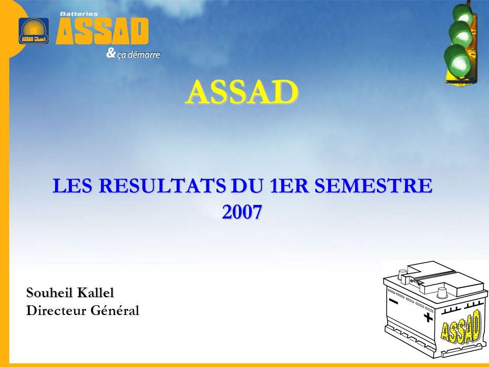 ASSAD LES RESULTATS DU 1ER SEMESTRE 2007