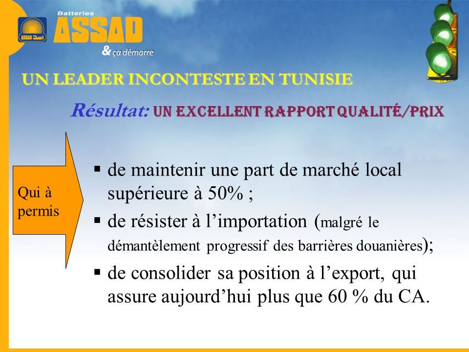 UN LEADER INCONTESTE EN TUNISIE