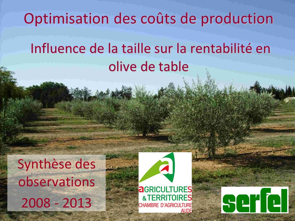 Synthèse des observations 2008 - 2013