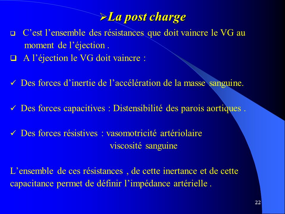 La post charge moment de l'éjection .
