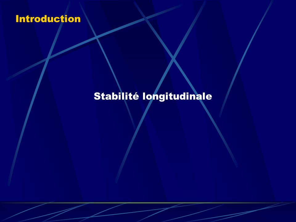 Stabilité longitudinale