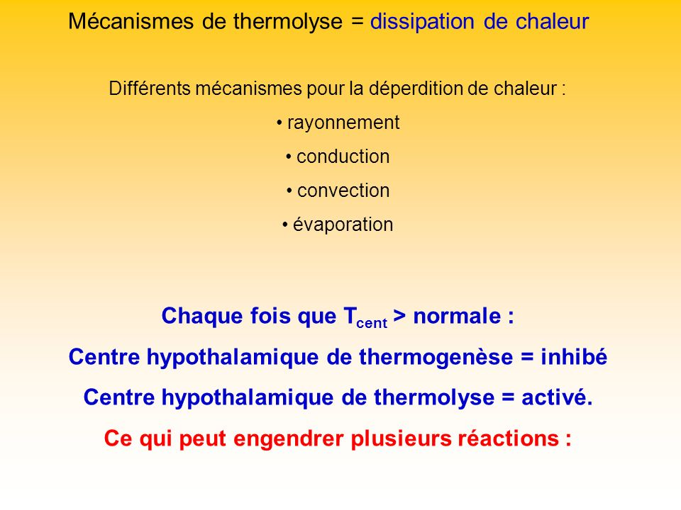 Iv la thermor gulation ppt video online t l charger - Deperdition de chaleur ...