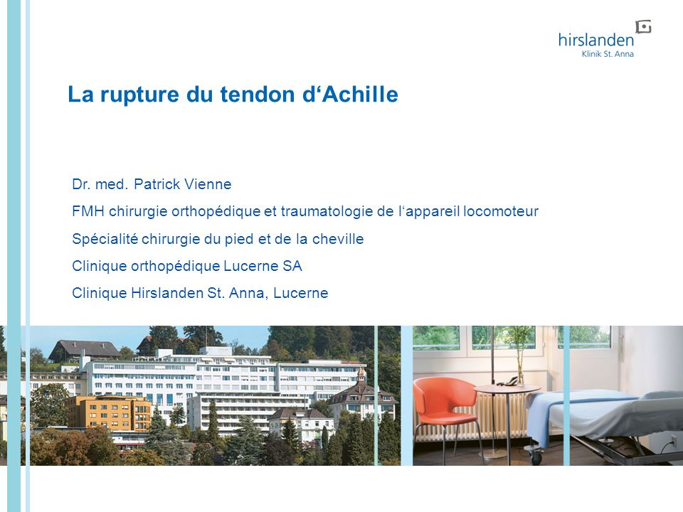 La rupture du tendon d'Achille