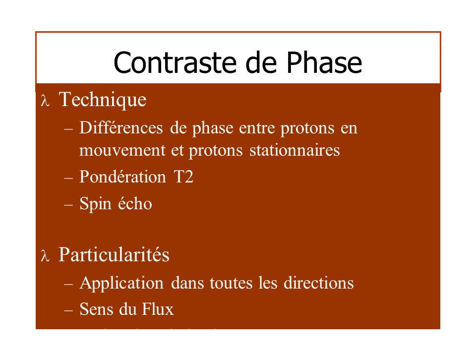 Contraste de Phase Technique Particularités