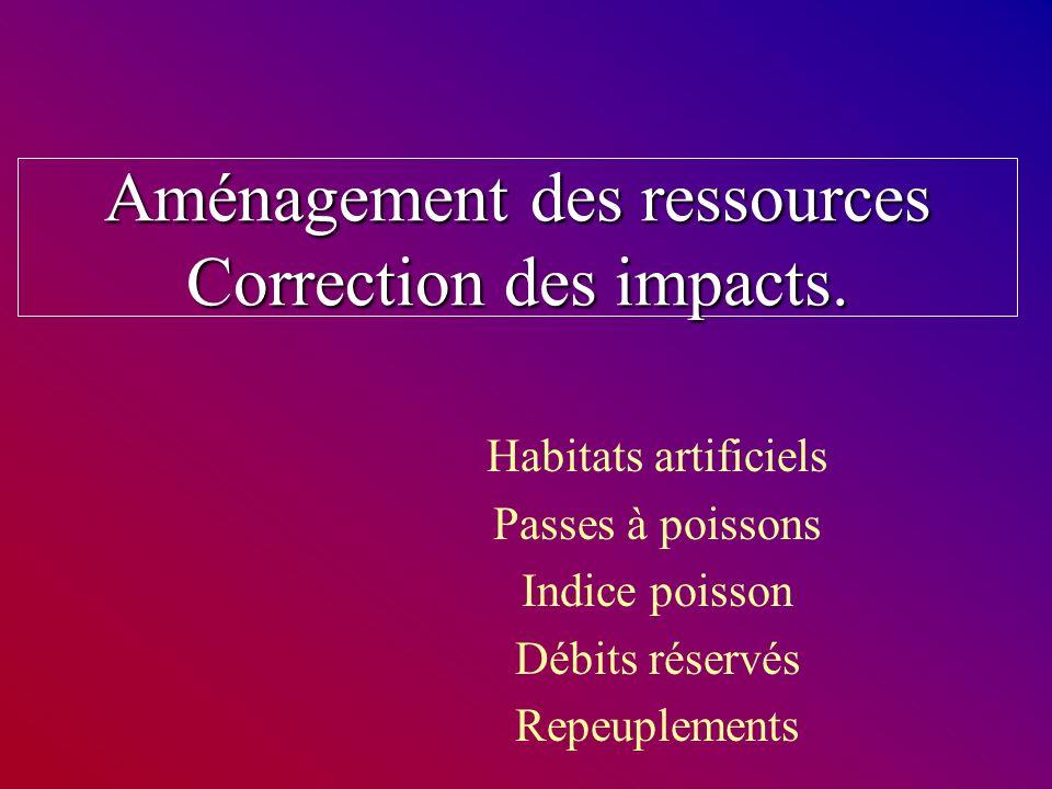 Aménagement des ressources Correction des impacts.