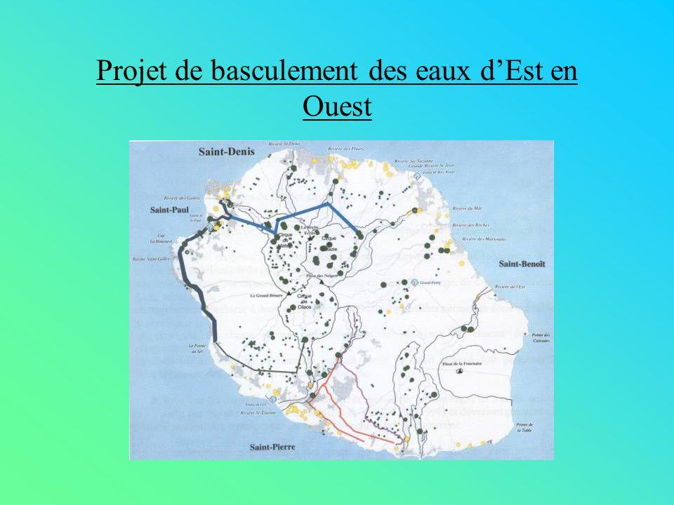 Projet de basculement des eaux d'Est en Ouest