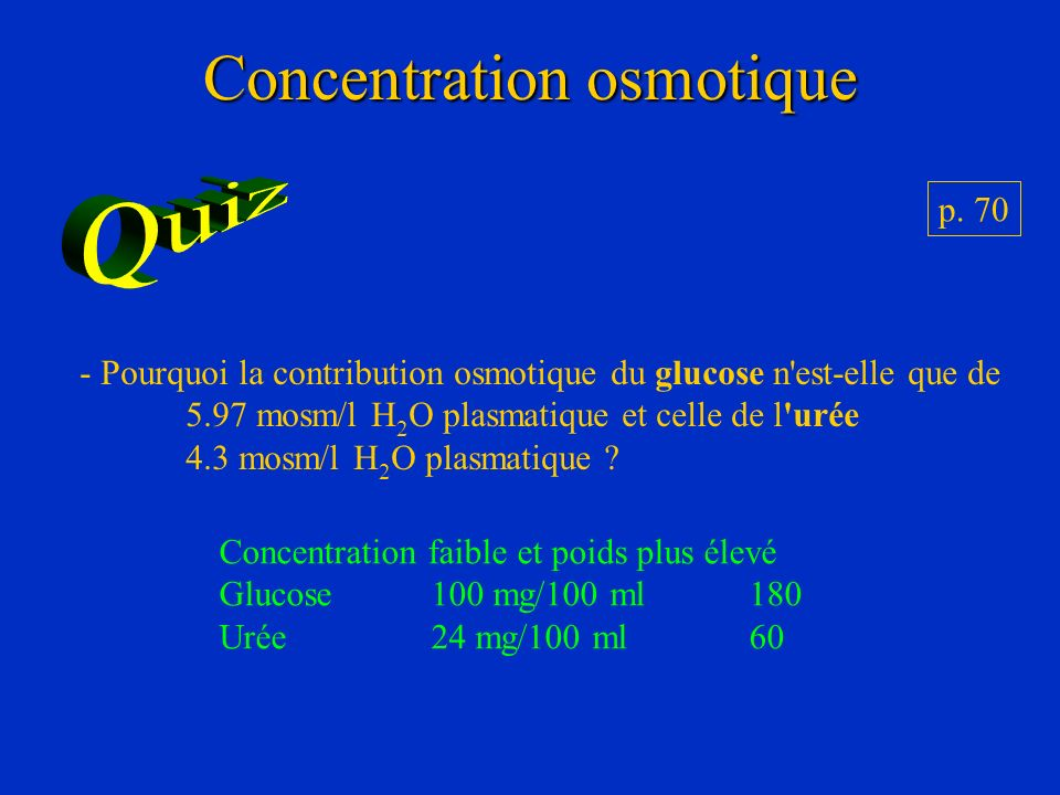 Concentration osmotique