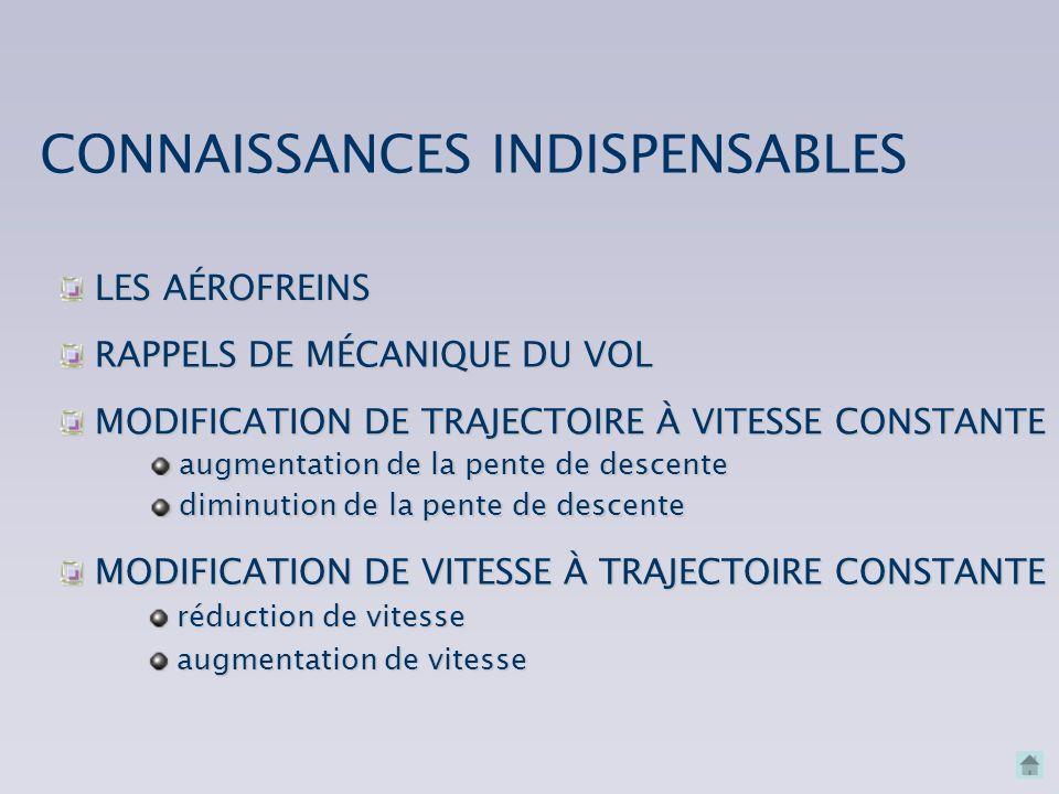CONNAISSANCES INDISPENSABLES