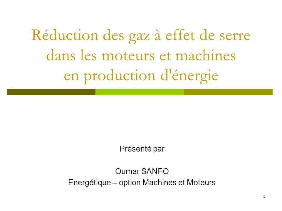 Présenté par Oumar SANFO Energétique – option Machines et Moteurs