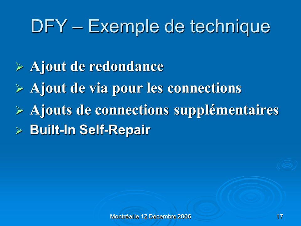 DFY – Exemple de technique