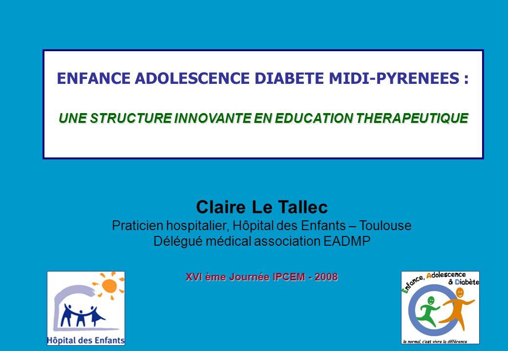 Claire Le Tallec ENFANCE ADOLESCENCE DIABETE MIDI-PYRENEES :