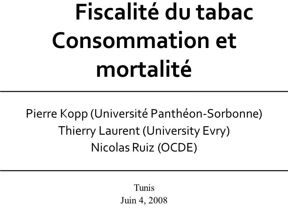 Fiscalité du tabac Consommation et mortalité