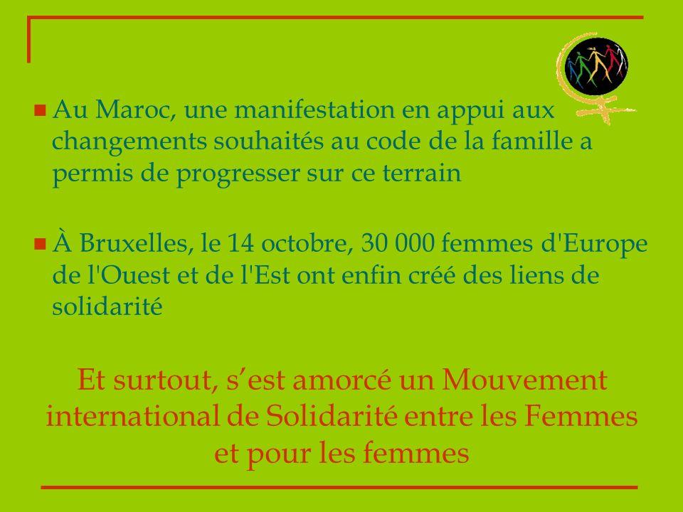 Au Maroc, une manifestation en appui aux