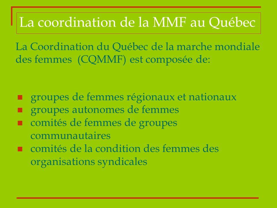 La coordination de la MMF au Québec