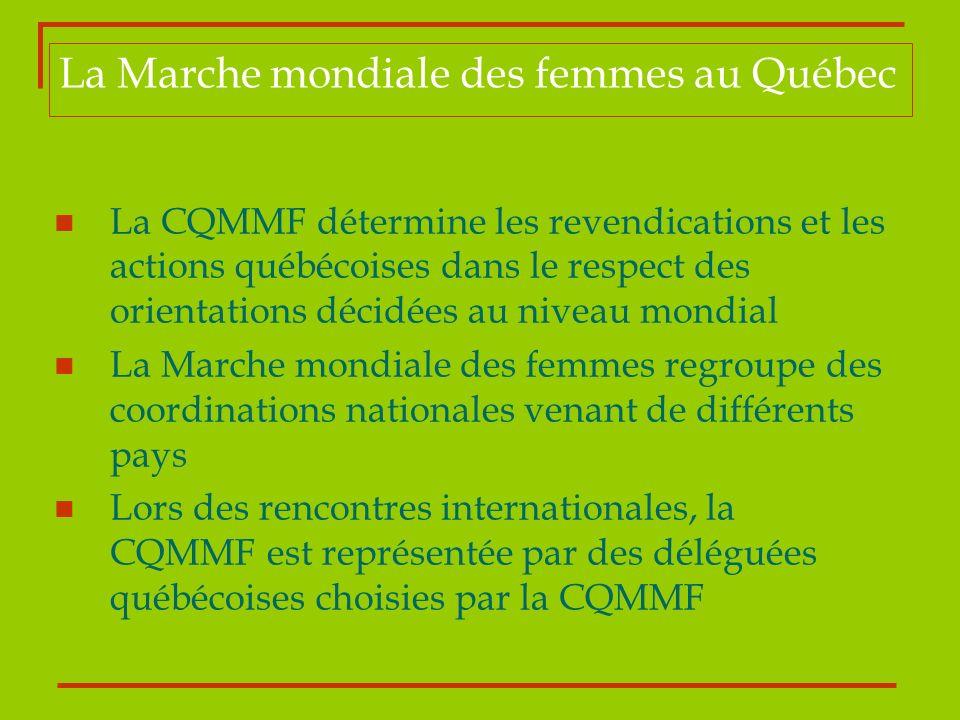 La Marche mondiale des femmes au Québec