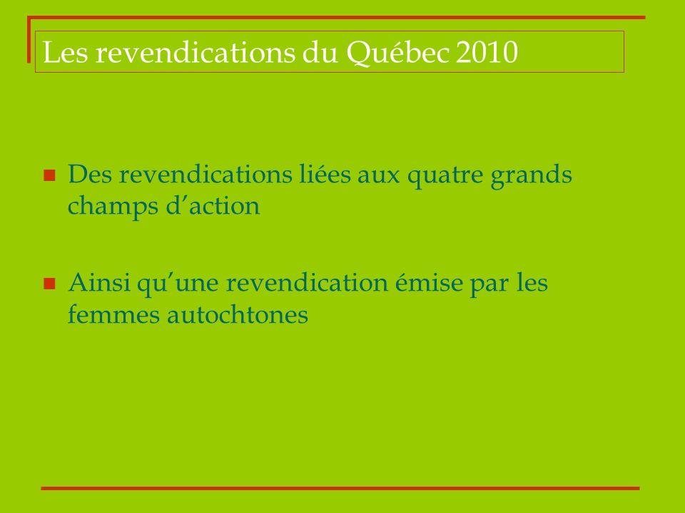 Les revendications du Québec 2010