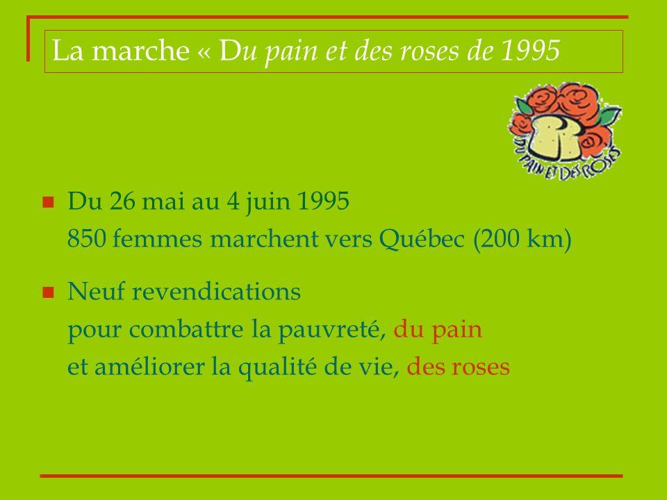 La marche « Du pain et des roses de 1995