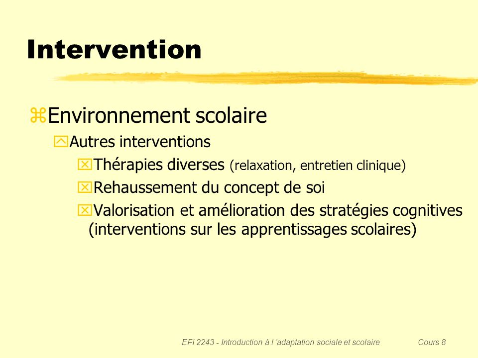 Intervention Environnement scolaire Autres interventions