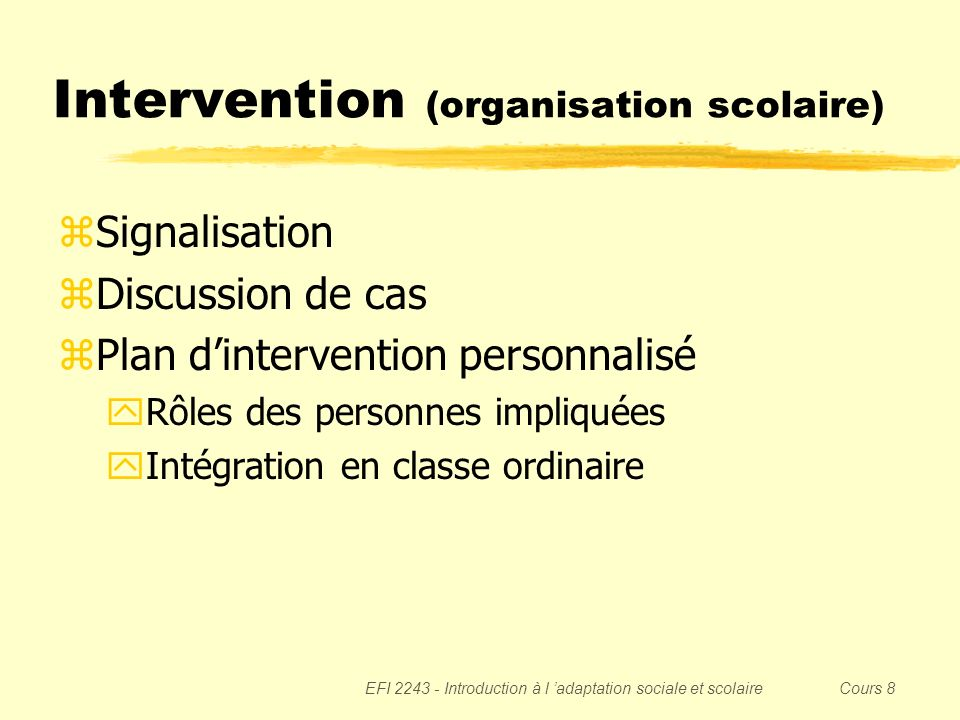 Intervention (organisation scolaire)