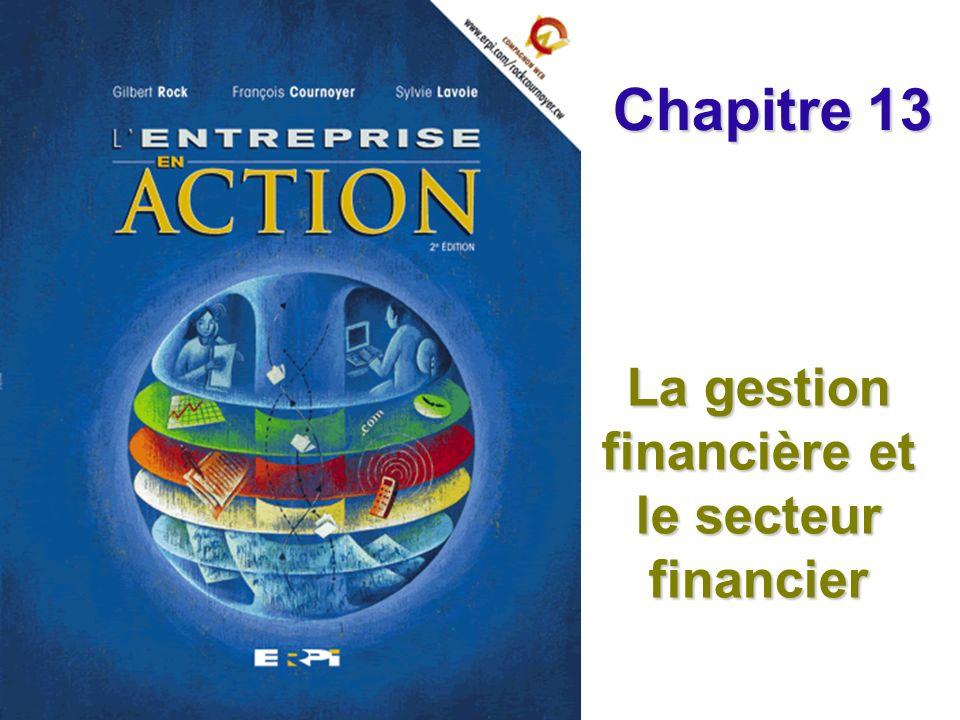 La gestion financière et le secteur financier