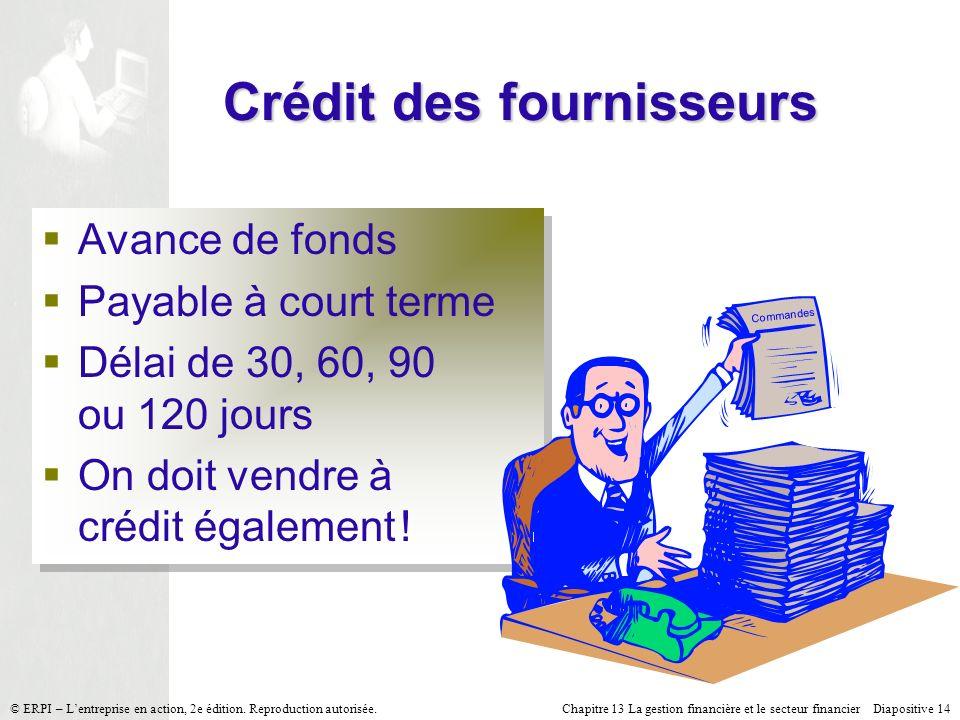 Crédit des fournisseurs