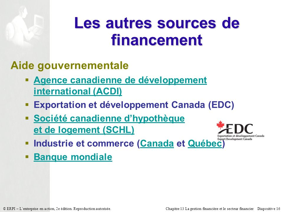 Les autres sources de financement