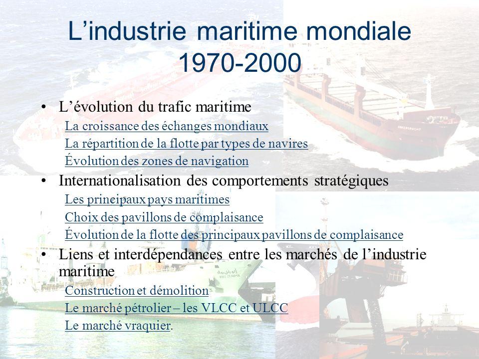 L'industrie maritime mondiale 1970-2000