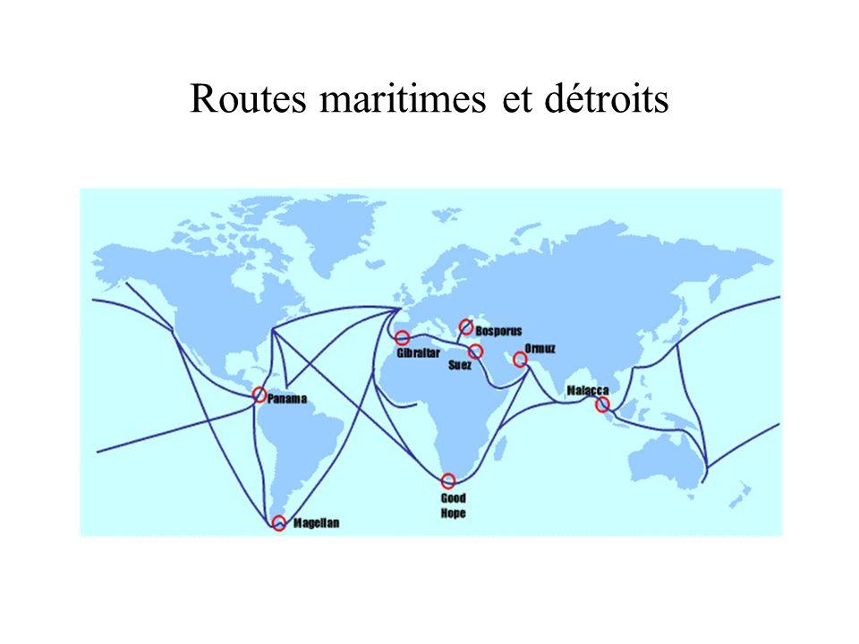 Routes maritimes et détroits