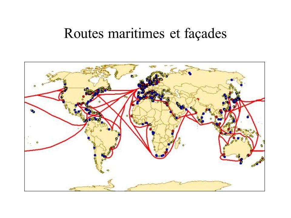 Routes maritimes et façades