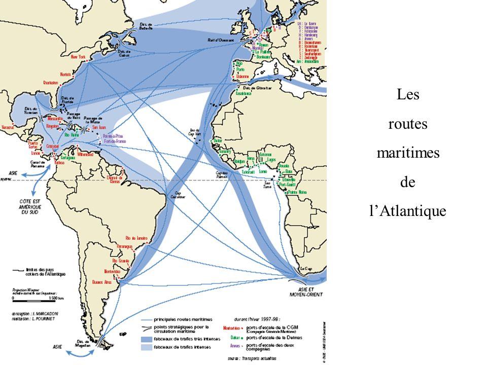 Les routes maritimes de l'Atlantique
