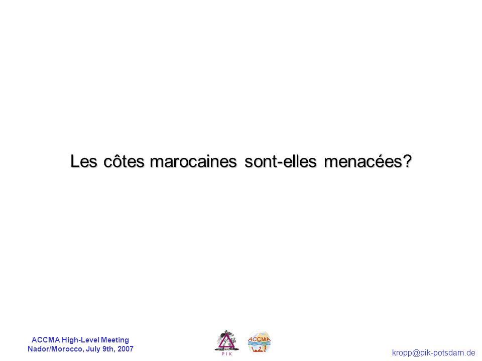 Les côtes marocaines sont-elles menacées