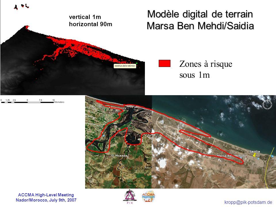 Modèle digital de terrain Marsa Ben Mehdi/Saidia