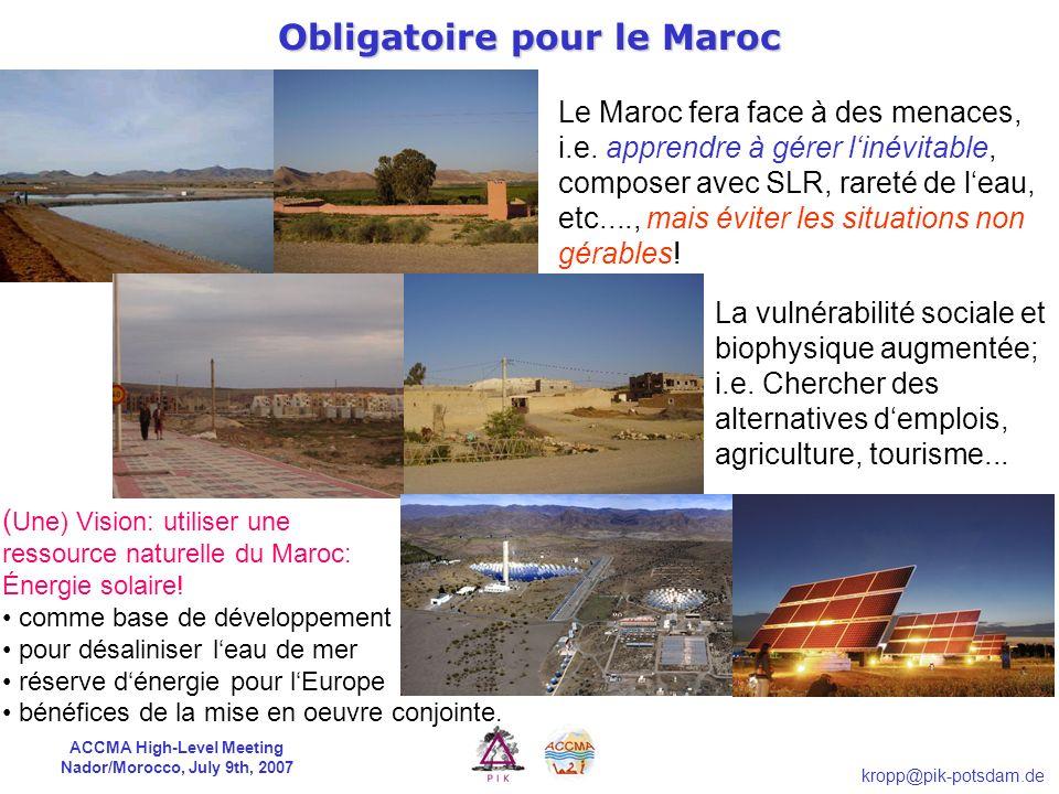 Obligatoire pour le Maroc