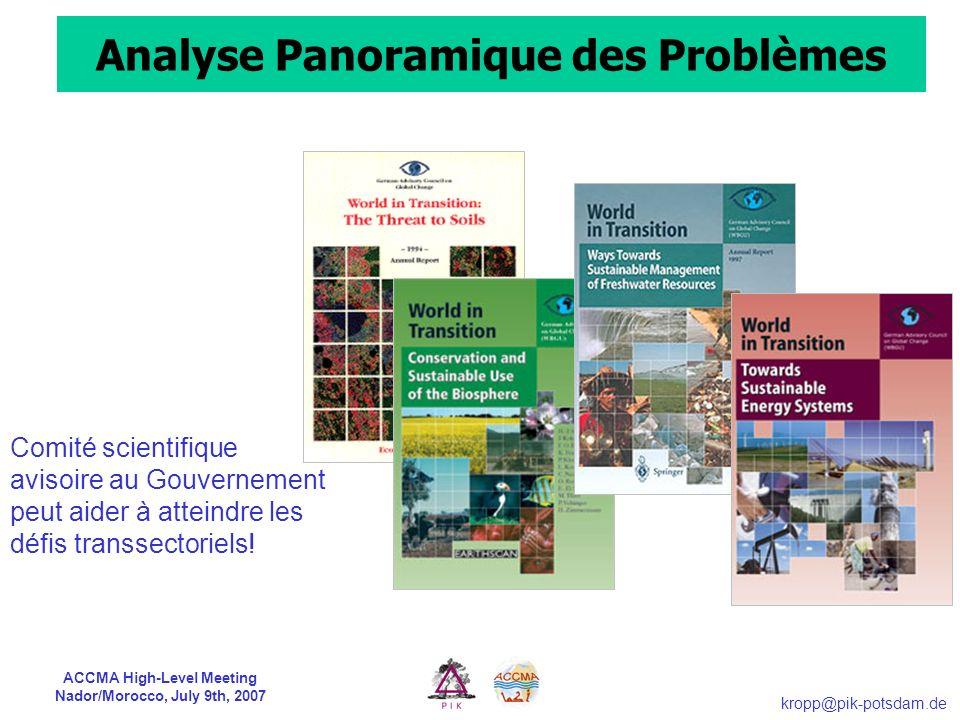 Analyse Panoramique des Problèmes