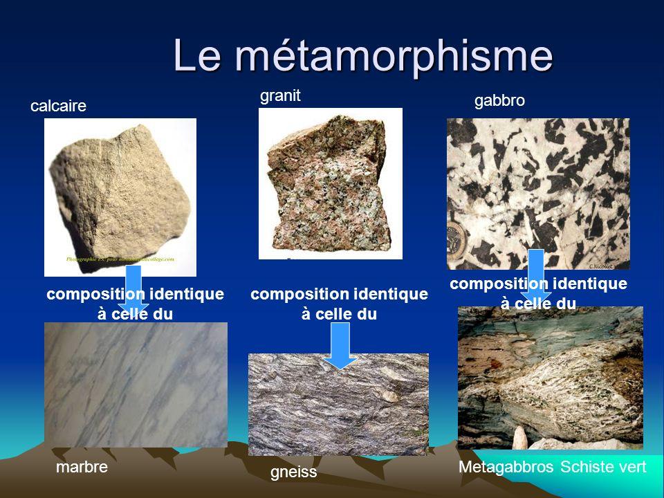 Le métamorphisme granit gabbro calcaire