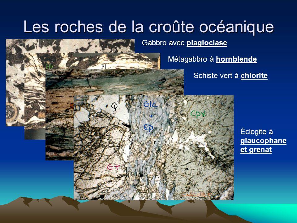 Les roches de la croûte océanique